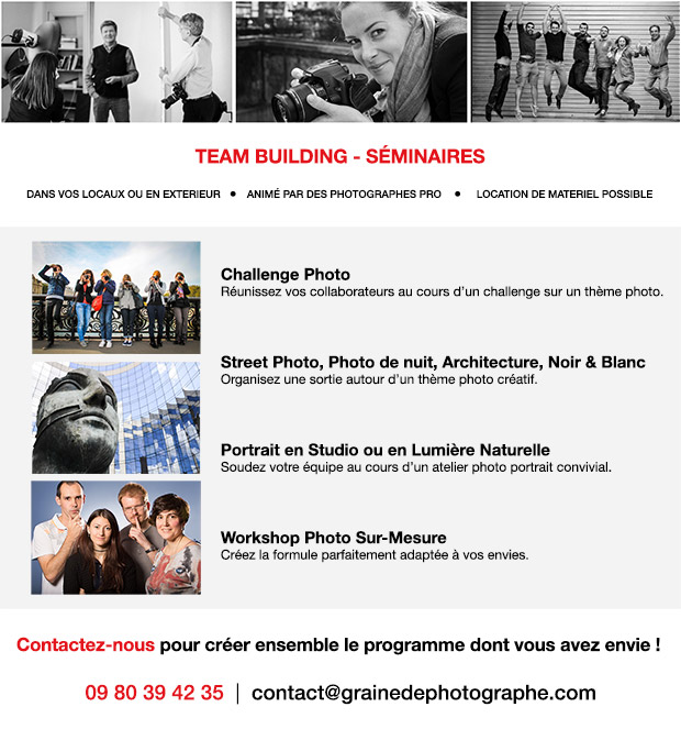 Team Building Photo - Séminaire Photo - CE Cours photo